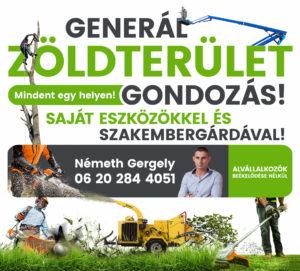 Generál zöldterület gondozás